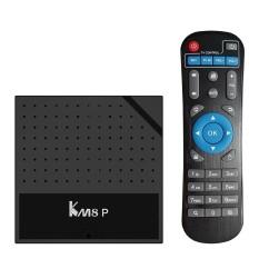 KM8P Smart Android 7.1 TV Box Amlogic S912 Octa Core 64bit H.265 UHD 4K VP9 3D Mini PC WiFi AirPlay Miracast DLNA EU Plug - intl