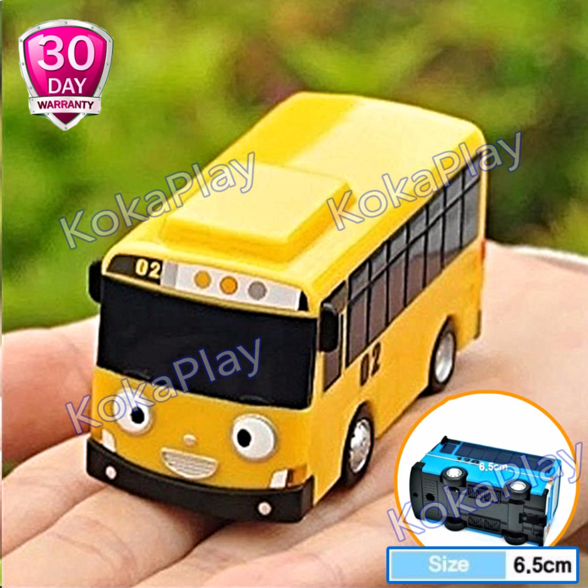 KokaPlay Little Bus Tayo Driving Game Pull Back Car Play Set Mainan Anak Mobil Bis Karakter Tayo Rogi Lani Gani