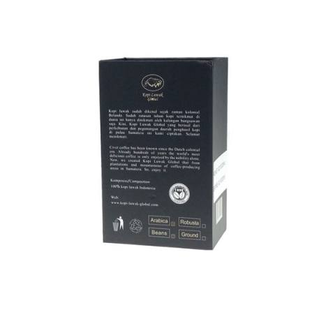 Kopi Luwak Global Arabica Roasted Beans Black Gift Box 100 gr