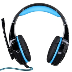 KOTION EACH G9000 3.5mm Gaming Headphone Game Headset Noise Cancellation Earphone with Mic LED Light for PS4 Laptop Tablet Mobile Phones - intl