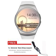 KW18 Smart Watch Terhubung Wrist Watch untuk Smartphone Mendukung Sync Panggilan Messager-Intl