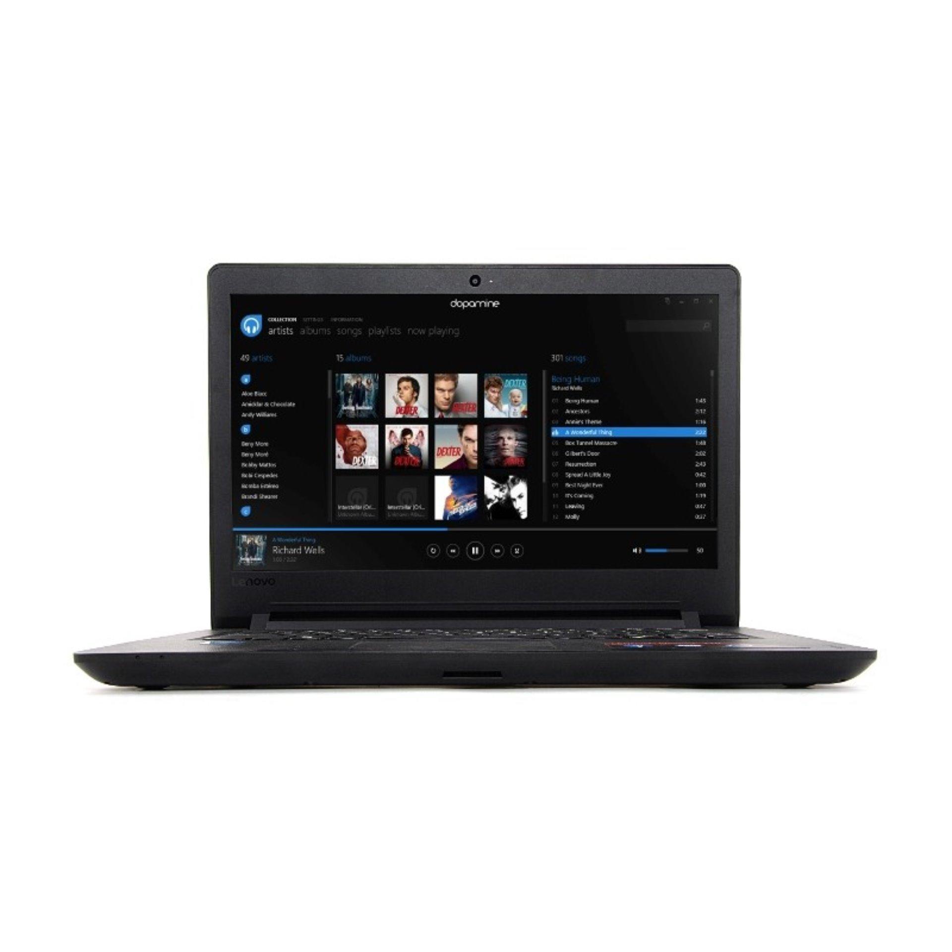 Laptop Resmi Lenovo IP 110 14IBR 8GID Cel N3060 Ram4GB Hdd1TB Dvdrw Dos Layar