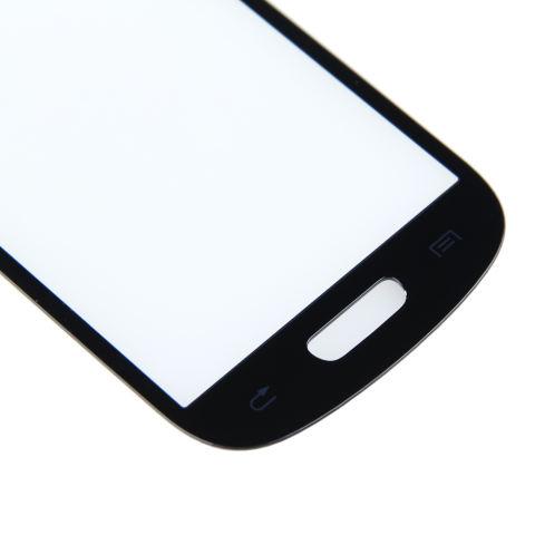 Depan Kaca Penutup Lensa Layar LCD untuk Samsung Galaxy S3 Mini I8190 Hitam