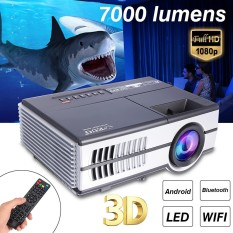 LED Home Theater Mini Proyektor Android Bluetooth WIFI Online HD TV Movie NEW-Intl