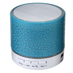 LED Portable Mini Bluetooth Speaker Wireless Bass Speaker With TF USB FM Radio #blue - intl