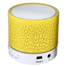 LED Portable Mini Bluetooth Speaker Wireless Bass Speaker With TF USB FM Radio #yellow - intl