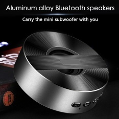 Leegoal A5 Bluetooth Speaker Mobile Nirkabel Mini Speaker Kecil Steel Portable Kartu Luar Ruangan Subwoofer (Hitam)-Intl