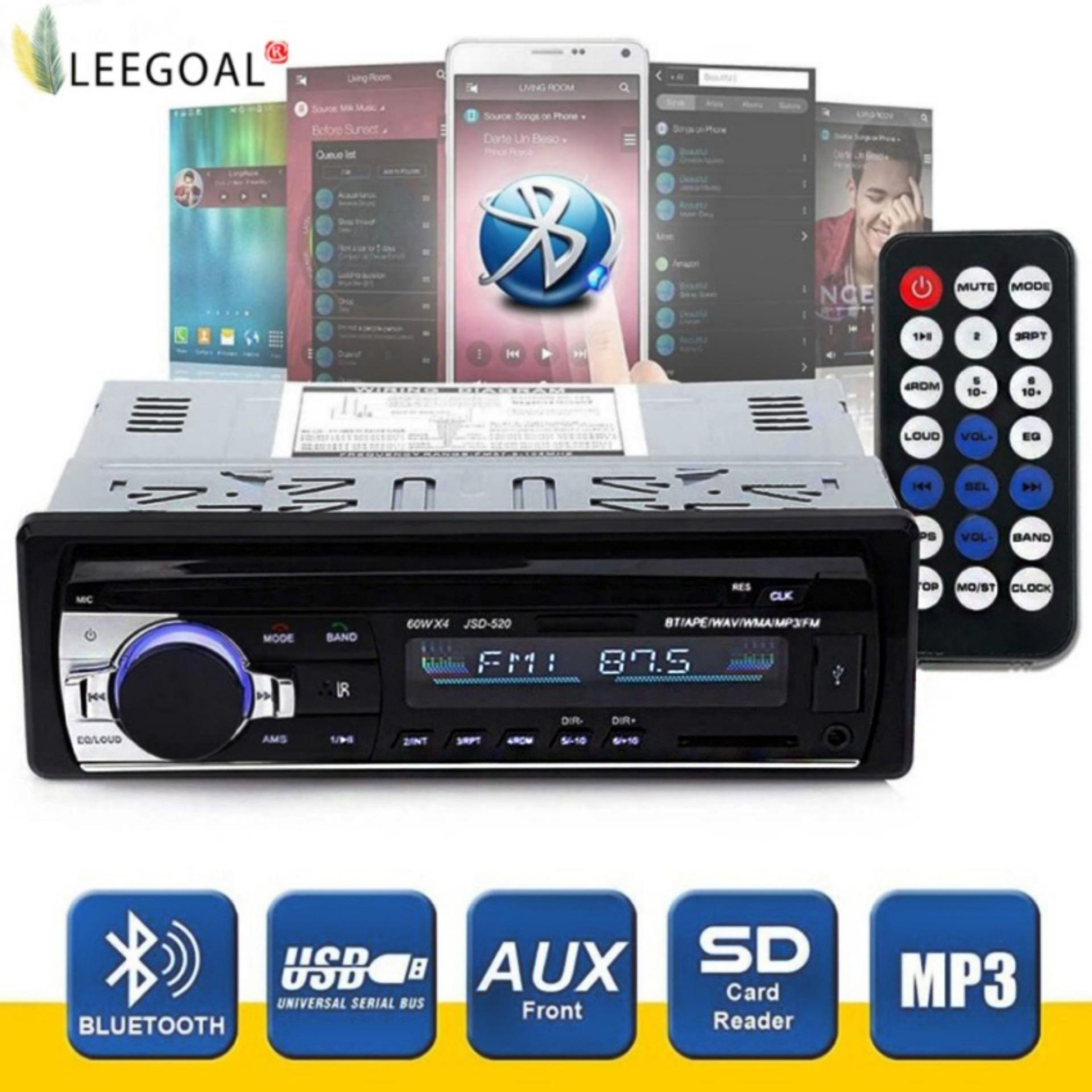 leegoalWireless Bluetooth Car Audio Stereo In-Dash Car MP3 Player Support Aux Input TF Card USB