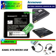 Lenovo Baterai / Battery BL194 Original For Lenovo A520 / A690 / A288T Kapasitas 1500mAh + Gratis Kabel Otg Micro Usb