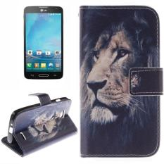 Lion Pattern Leather Case with Holder & Card Slot & Wallet for LG L90 / D405