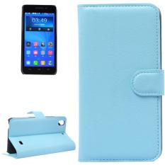 Litchi Texture Leather Case with Holder and Card Slots and Wallet for Huawei Honor 4 Play / Ascend G620s(Blue) - intl