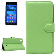 Litchi Texture Leather Case with Holder and Card Slots and Wallet for Huawei Honor 4 Play / Ascend G620s(Green) - intl
