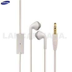 LJ Headset Samsung Galaxy J1 2016 (J120) Handsfree Headphones Bass Audio High Qualty - Putih