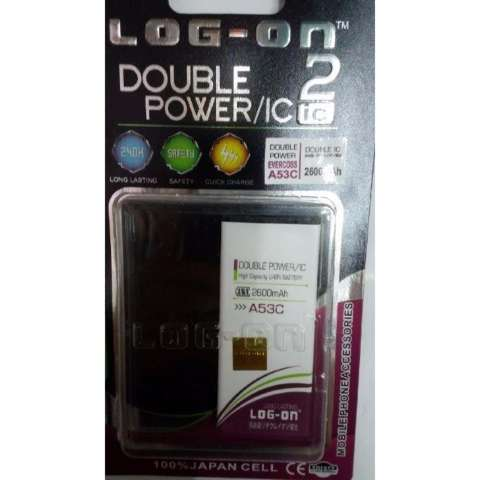 LOG-ON Battery For Evercoss A53C - 2600mAh Double Power & IC - Garansi 6