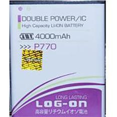 LOG-ON Battery For Lenovo P770 4000mAh - Double Power & IC Battery - Garansi 6 Bulan