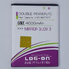 LOG-ON Battery For OPPO MIRROR 3 / JOY 3 4000mAh - Double Power & IC Battery - Garansi 6 Bulan