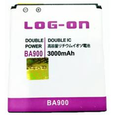 LOG-ON Battery For Sony Xperia J / L/ M / TX/ E1 / BA900 3000mAh - Double Power & IC Battery - Garansi 6 Bulan