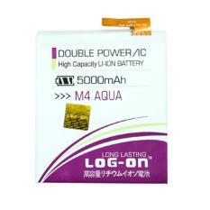 LOG-ON Battery For Sony Xperia M4 Aqua 5000mAh - Double Power & IC Battery - Garansi 6 Bulan