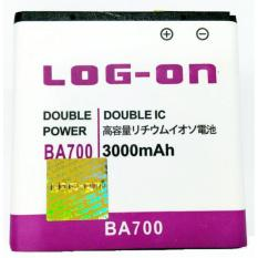 LOG-ON Battery For Sony Xperia Miro -BA700 3000mAh - Double Power & IC Battery - Garansi 6 Bulan