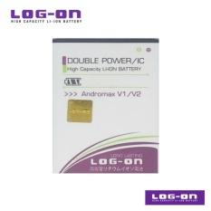 LOG-ON Battery Untuk Andromax V / V2 /  Zte E5 /  Zte V9820 - Double Power & IC - Garansi 6 Bulan