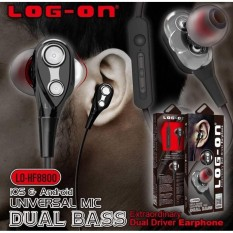 Log On Double Bass / Dual Speaker In-Ear Earphone Handsfree Headphone Headset LO-HF8800