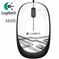 Logitech Original Mouse M105 - Putih.