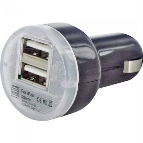 Lucky - Car Charger Mobil USB 2 Port - 1 Pcs