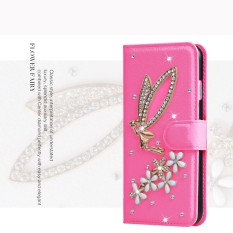 Mewah Women Handmade Rhinestone Diamond Leather Wallet Cover Case untuk BlackBerry Motion-Intl