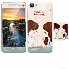 Luxury 3D Painting Front+Back Full Case Cover Color Tempered Glass Case For Vivo Y27 y627 y927 4.7 inch Screen Protector Film