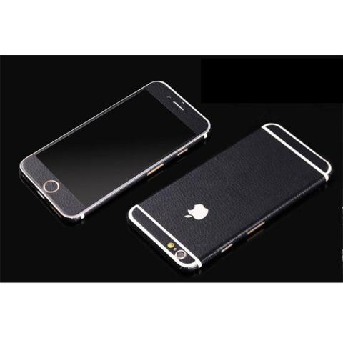 Kemewahan PU Kulit Tubuh Penuh Stiker Depan Sampul Kulit Belakang Film To Apple IPhone 6 (