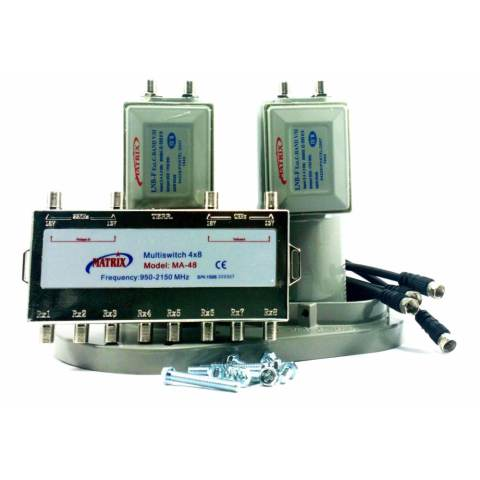 ... Jual Matrix Lnb C Band 2 In 8 2 Satelit 8 Receiver With Multiswitch Lc 999