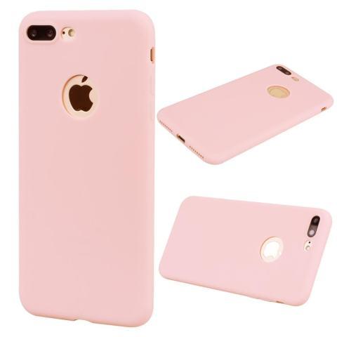 Matte Anti Fingerprint TPU Ponsel Pelindung Case Shell untuk IPhone 7 Plus 5.5 Inch-Merah Muda