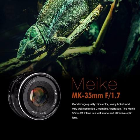 Meike 35mm f/1.7 APS-C Large Aperture Manual Focus Fixed Lens for Can0n EOS-M Mirrorless Camera EOS-M3/EOS-M2/EOS-M10/EOS-M Frosted Metal Construction/Multi Coated - intl 6
