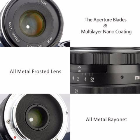 Meike 35mm f/1.7 APS-C Large Aperture Manual Focus Fixed Lens for Can0n EOS-M Mirrorless Camera EOS-M3/EOS-M2/EOS-M10/EOS-M Frosted Metal Construction/Multi Coated - intl 2
