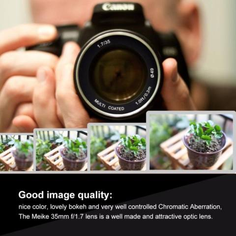 Meike 35mm f/1.7 APS-C Large Aperture Manual Focus Fixed Lens for Can0n EOS-M Mirrorless Camera EOS-M3/EOS-M2/EOS-M10/EOS-M Frosted Metal Construction/Multi Coated - intl 7