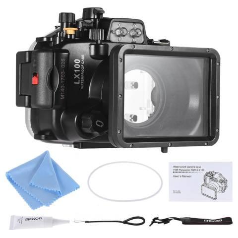 Meikon Anti-Air Kamera Menyelam Perumahan Kasus Pelindung Sarung Di Bawah Air 40 M/130ft untuk Panasonic Lumix LX100-Internasional 3