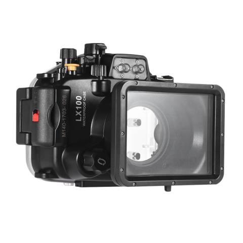 Meikon Anti-Air Kamera Menyelam Perumahan Kasus Pelindung Sarung Di Bawah Air 40 M/130ft untuk Panasonic Lumix LX100-Internasional 1