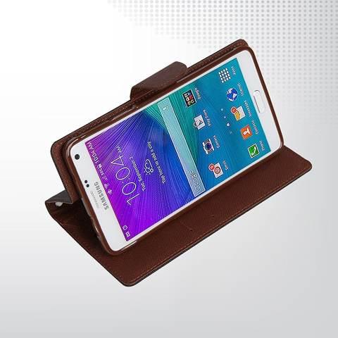 Mercury Fancy Diary Case LG G4 Stylus Casing Cover Flip - Hitam Cokelat