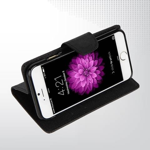 Mercury Fancy Diary Case untuk Samsung Galaxy Ace 3 Casing Cover Flip - Hitam