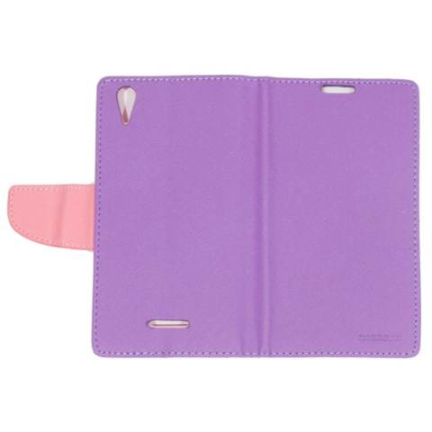 Mercury Fancy Diary Leather Case Cover Sony Xperia T3 Flipshell Softcase / Sarung Case / Sarung