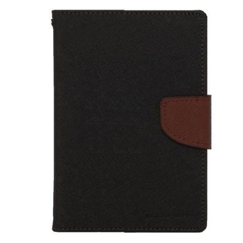 Mercury Goospery Fancy Diary Case for Samsung Galaxy Tab 4 7.0 - Hitam - Cokelat