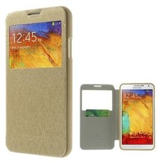 Mercury Goospery WOW Bumper View Case Samsung Galaxy Note 3 Neo - Gold
