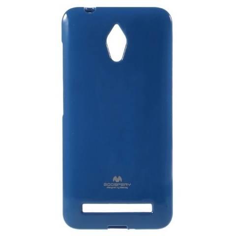 Mercury Jelly TPU Soft Case Asus Zenfone GO Casing Cover - Biru Tua
