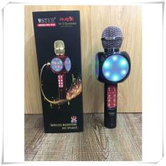MIC Smule Karaoke Portable WS-1816 lampu LED Bluetooth Wireless Microphone Speaker USB -generasi WS 858