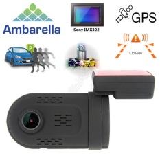 Mini 0807 Ambarella A7 1080 P HD Di Car Dashcam Camera Capacitor GPS Park Monitor-Intl