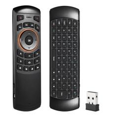 Mini 2.4 GHz Nirkabel QWERTY Keyboard Udara Mouse Handheld Remote Control 6 Gxes Giroskop untuk Windows/MAC OS/ Linux/Android TV Mini PC TV Box-Intl