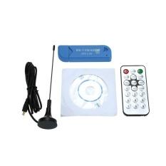 Mini Portable Digital USB 2.0 TV Stick DVB-T + DAB + FM RTL2832U + R820T2 Dukungan SDR Tuner Receiver- INTL