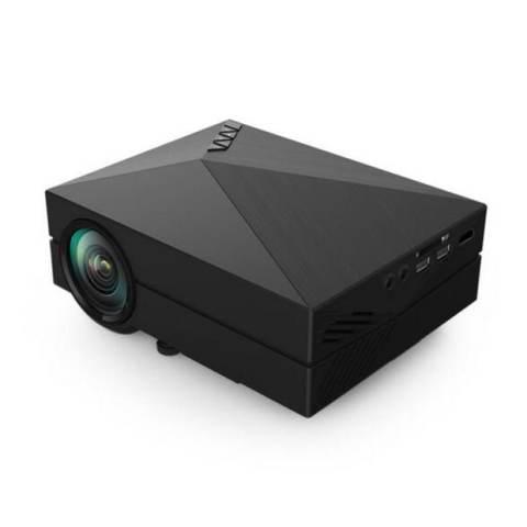 Mini Proyektor Gm60 LED TV 3D Full HD Video Home Theater Dukungan HDMI VGA
