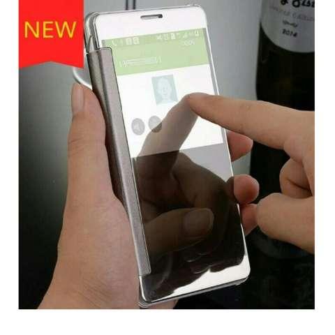 MNC Case Samsung Galaxy J7 Prime Flipcase Flip Mirror Cover S View Transparan Auto Lock Casing