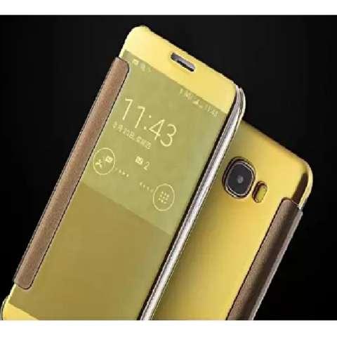MNC Samsung J7 Prime Flipcase Flip Mirror Cover S View Transparan Auto Lock Casing Hp-